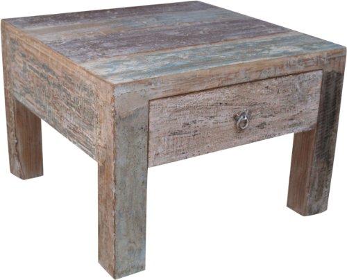Guru-Shop Table Basse, Table Basse, Table D`appoint Avec Tiroir - Modèle 8, Marron, 46x65x65 cm, Tables Basses Tables de sol