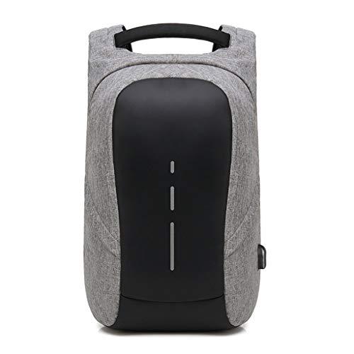 Yzlife Sac à Dos décontracté pour Hommes, Sacoche pour Ordinateur Portable de Grande capacité étanche 15,6 Pouces Interface USB Externe (Gris Noir) (Couleur : Gray, Taille : 45x29x16cm)