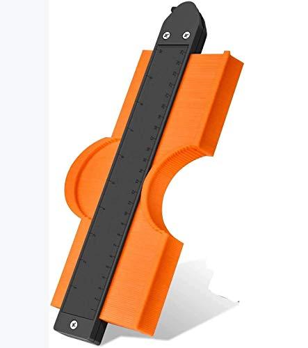 YEGOOD Medidor de contorno con bloqueo, 10 pulgadas con precisión copia irregular duplicador de forma ajustable de plástico para medir madera, azulejos, tuberías, suelos