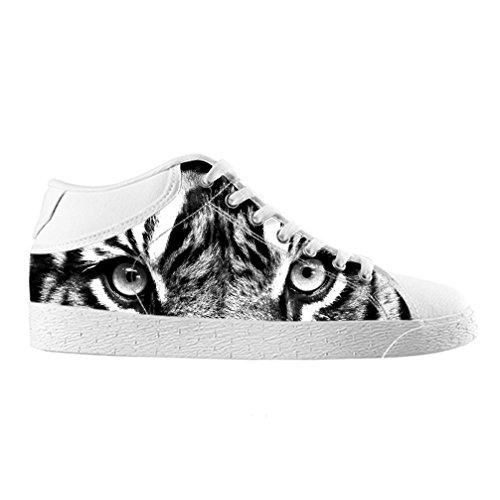 Cheese Noël Heureux Tigre haute qualit ¨ ¤ chaussures Canvas Custom Chukka pour les Homme, EUR 40