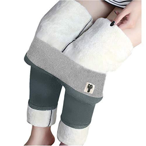 Blssom Legging Doublé Polaire Femme, Pantalon Chaud d'hiver, Hiver Super épais Chaud Extensible Pantalon, Collant Legging Femme Grande Taille Sport pour Femme Adulte