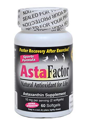 AstaFactor Sports Formula, Natural Antioxidant, 60 Softgels