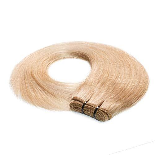 hair2heart Premium 100g REMY Echthaar-Tresse - glatt - 40 cm - #20 aschblond