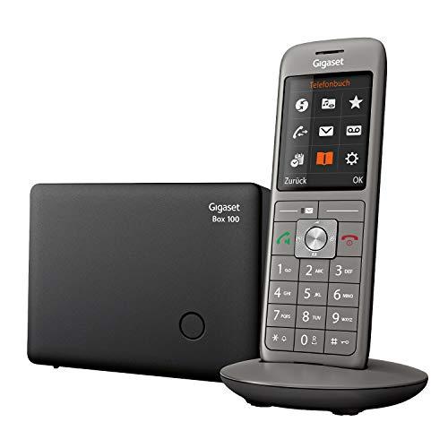 Gigaset CL660 - Schnurloses Telefon mit großem TFT-Farbdisplay - Benutzeroberfläche, großes Adressbuch, schlankes Design Telefon, anthrazit-metallic