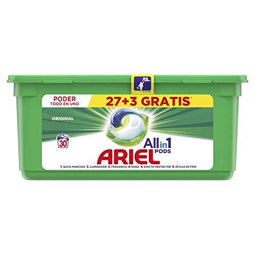 Ariel Pods Detergente en Cápsulas para Lavadora, 30 Lavados