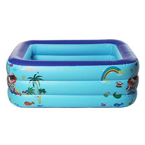 CZYSKY Piscina inflable, Adultos Niños Piscina, Rectangular al aire libre interior Verano Pvc Paddling Pool,130x95x50cm