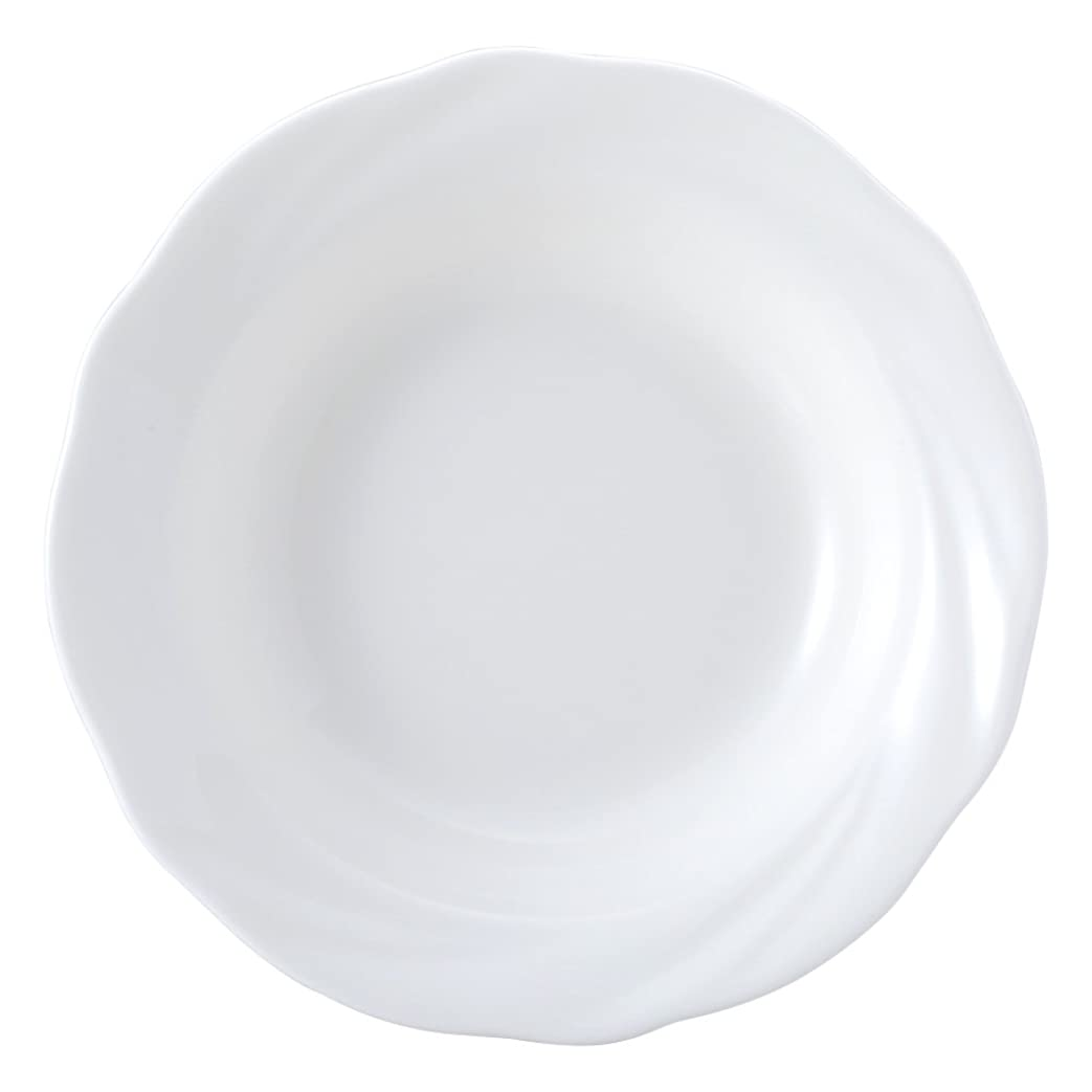 第二の中でモンクNARUMI(ナルミ) ボウル 皿 スパイラルホワイト ホワイト 16cm フルーツ 電子レンジ温め対応 日本製 8382-1967