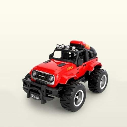 Lihgfw Große Fernbedienung Off-Road-Fahrzeug Kinderspielzeug Junge Renn RC Lade Mobile WLAN-Kletterwagen über 3 Jahre altes Auto Medium Rot 24 cm (Color : Rot)