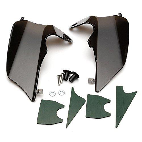 NEVERLAND Reflective Saddle Shield Air Heat Deflector for 1997-2007 Harley Road King Street Electra Glide Black