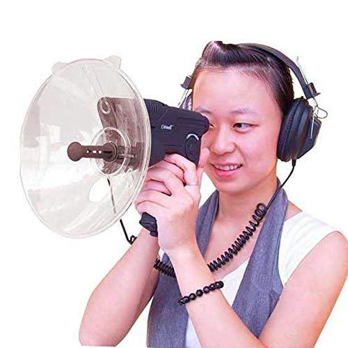 KKmoon Amplificateur de son extérieur 8X Zoom Nature Observateur avec fonction d'enregistrement et de lecture Télescope électronique monoculaire