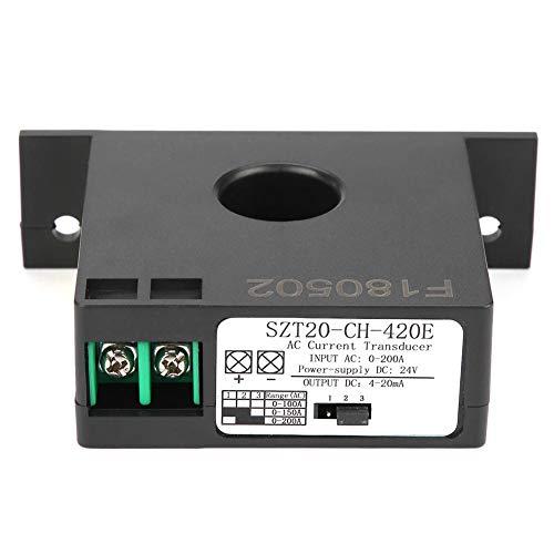 Current Transmitter, SZT20-CH-420E Current Transducer Transmitter Transformer Sensor AC Current Converter 0-200A