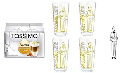 Tassimo Jacobs Krönung Caramel Macchiato + 4 James Premium Latte Gläser