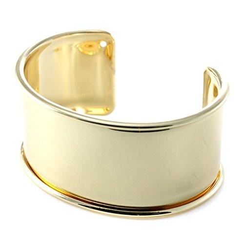 Armreif/Armreif Slave vergoldet, Messing, gold, 30 mm
