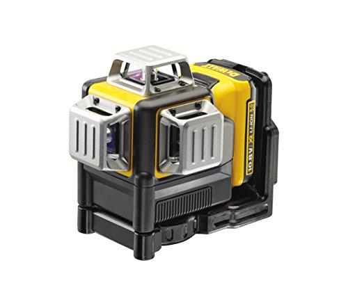 Dewalt DCE089D1G-QW Láser autonivelante de 3 lineas de 360º-Incluye batería DW 10, Negro y amarillo