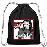 Miranda Sings Merch Haters Back Off! Cotton Drawstring Bag, black