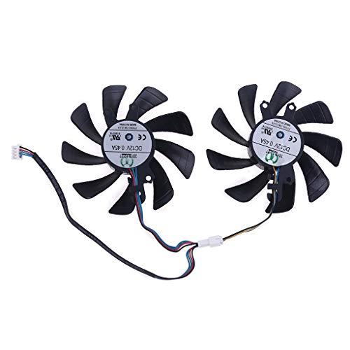 Myya 1 Paire 85mm 4pin Fan de Refroidisseur pour Galax GeForce GTX 1660 RTX 2060 2070 Ventilateur de Refroidissement par Carte Graphique