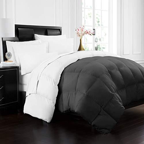 Beckham Hotel Collection 1700 Series Luxury Goose Down Alternative Reversible Comforter - Premium Hypoallergenic - All Season - Duvet - Twin/Twin XL - Gray/White