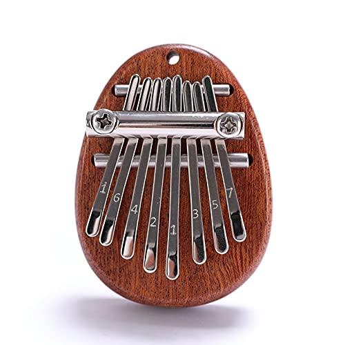 Kalimba 8 teclas pulgar piano con cordón portátil mini piano instrumentos musicales buen regalo de San Valentín dedo piano regalos para niños y adultos principiantes