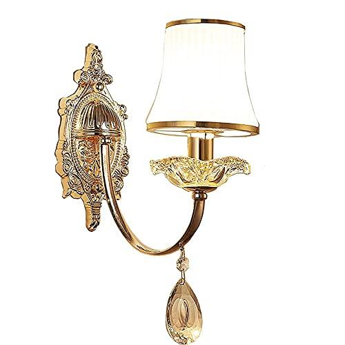 Applique da parete, lampada da parete per comodini camera da letto europea Design Paralume in vetro Lampade da parete per corridoio Camera creativa Balcone Corridoio Wll Apparecchi di illuminazione