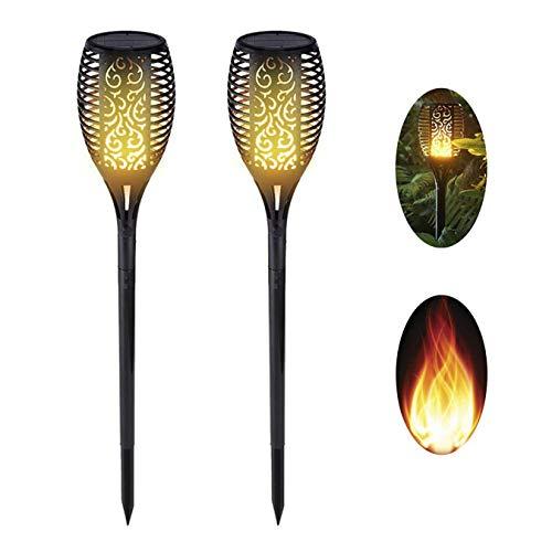 Solar Flame Light, Solar Outdoor Light, IP65 wasserdichtes Licht, dekorative Terrasse, Pool, Garten, Terrasse