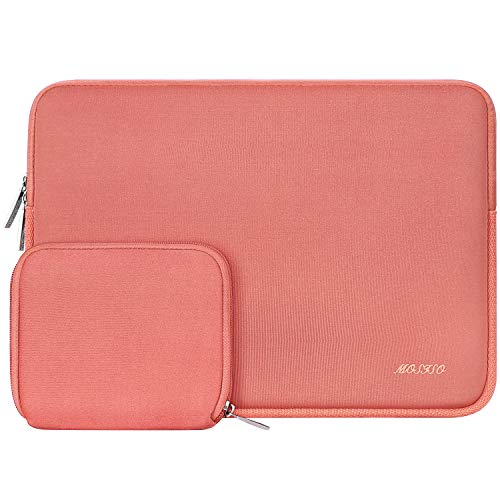 MOSISO Laptop Sleeve Compatible with 13-13.3 inch MacBook Pro, MacBook Air, Notebook Computer, Water Repellent Neoprene Bag with Small Case, Living Coral