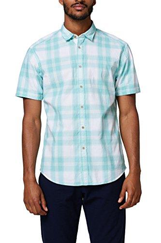 ESPRIT Herren 068EE2F010 Freizeithemd, Blau (Pastel Blue 435), Large