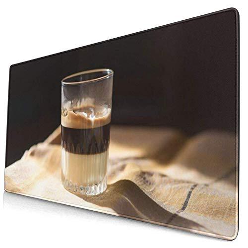 Gaming-Mauspad, Premium-strukturierte Mauspad-Pads, süßes Mousepad für Spieler, Büro- und Heim-Cappuccino-Kaffee-Kondensmilch im Glascafé Bombon Aroma