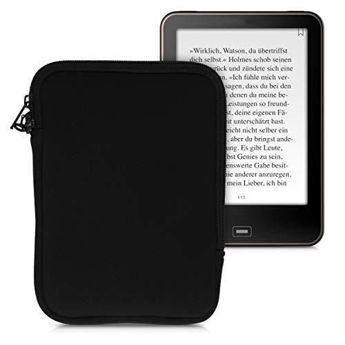 kwmobile Schutztasche für eReader - Neopren Tasche Hülle Cover Case Schutzhülle Schwarz - 17 x 12 x 2 cm Innenmaße