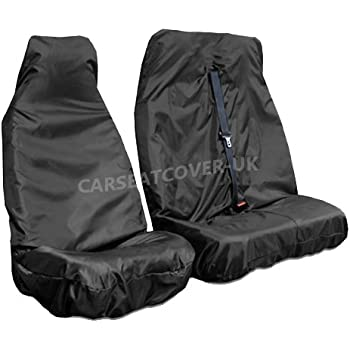 For Ford Galaxy 2 x Fronts 1+1 Heavy Duty Black Waterproof Car Seat Covers