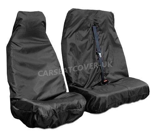 Carseatcover-UK Strapazierfähige extra robuste Schwarze wasserdichte Vans Sitzbezüge (universale Passform) – Einzel- und Doppelbett