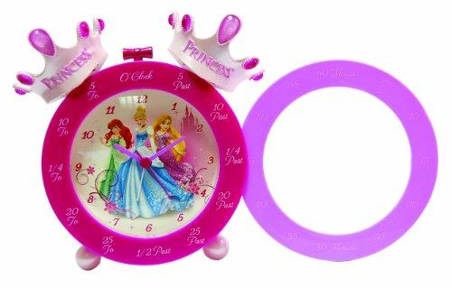 Disney Réveil d'apprentissage de l'heure avec couronnes de Princesse Rose