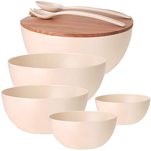 8-piece Wood Bowl Set
