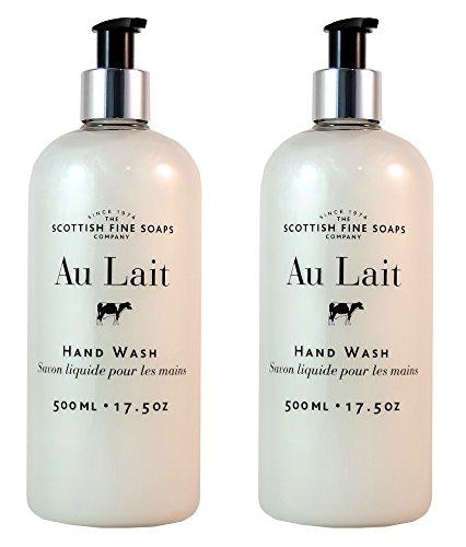 Scottish Fine Soaps Au Lait Liquid Hand Wash - 500ml/17.5 oz (2-Pack)