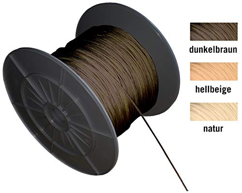EFIXS Zugschnur für Holzjalousien - Farbe: Dunkelbraun - Länge 10 Meter - Ohne Rolle