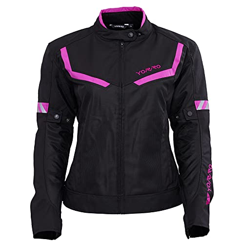 Autumn Motorcycle Jacket Women with Armor, 4 Seasons, Female Youth Mesh Adventure Riding Jacket Waterproof(Size Corrected)