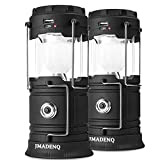 Lanterns, Camping Lantern, Solar Lantern Flashlights Charging for Phone, USB Rechargeable Led Camping Lantern, Collapsible & Portable for Emergency, Hurricanes, Power Outage, Storm (2 Pack)