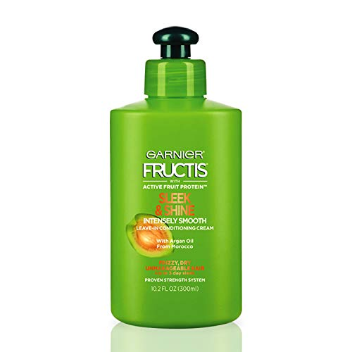 Garnier Fructis Sleek & Shine Intensely Smooth Leave-In Conditioning Cream, 10.2 Ounce, Pack of...