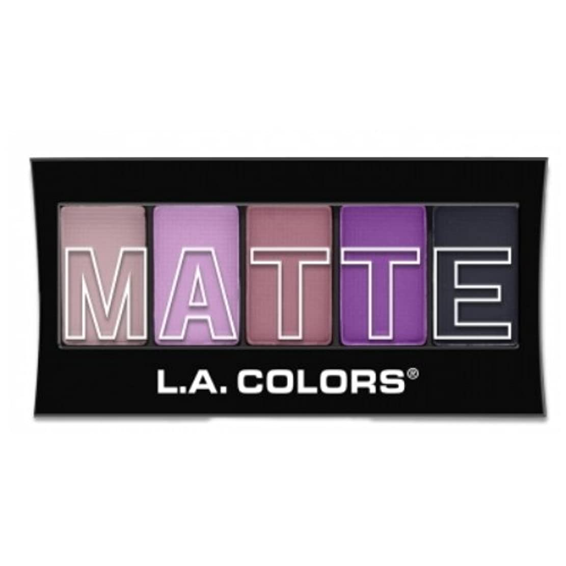 横向きダッシュの間で(3 Pack) L.A. Colors Matte Eyeshadow - Plum Pashmina (並行輸入品)