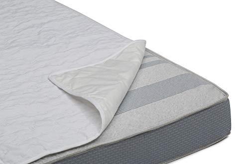 Serta Sertapedic Crib Mattress Liner Pads (Pack of 2)  Extra Protection for Baby's Crib with Nanotex Technology  100% Waterproof, White -  04405