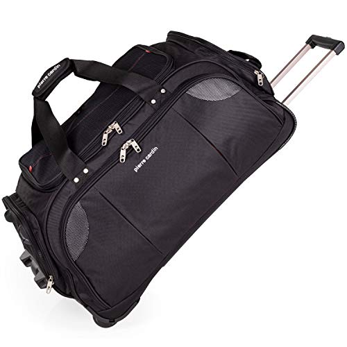 Lightweight Medium Holdall with Wheels - Weekend Roller Bag by Pierre Cardin | Durable Stress Tested Skate Wheels | Carry, Grab, Pull or Drag Trolley Handle | 78L Capacity CL769 (Medium 26')