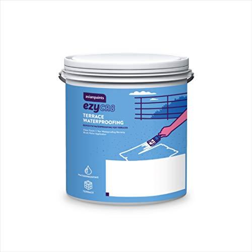Asian Paints ezyCR8 Terrace Waterproofing, DIY Paint for Terrace Waterproofing and Coating - 1L