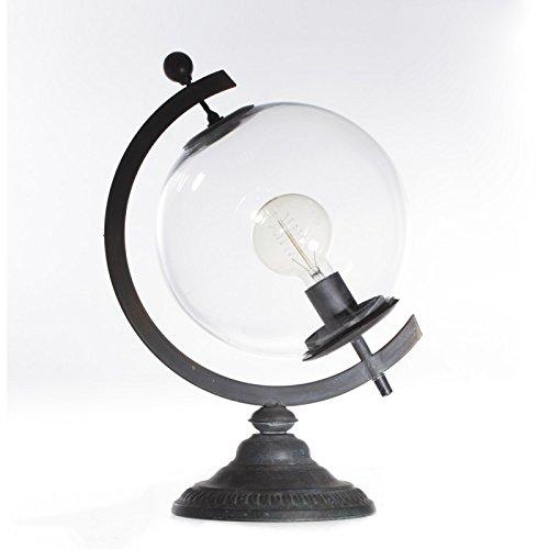 Paris Prix Atmosphera Créateur d'intérieur - Lampe à Poser Métal Globe 44cm Noir