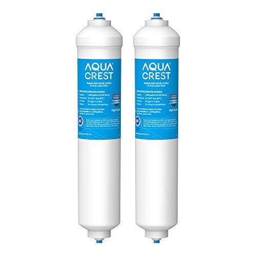 2X AQUACREST DA29-10105J Filtro de Agua, Compatible con Samsung Aqua-Pure Plus (Solo Externo) DA29-10105J DA99-02131B HAFEX/EXP DA2010CB 5231JA2010B Wpro USC100 WSF-100 (2)