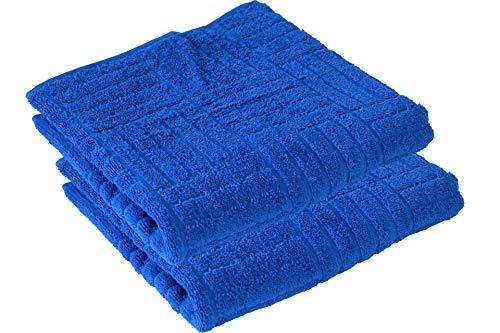 Schiesser Handtuch 2er Set blau 50x100cm