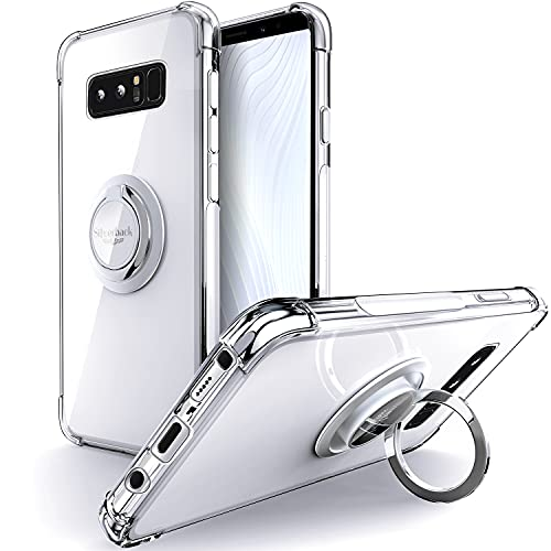 Silverback for Galaxy Note 8 Case Clear with Ring Kickstand,...
