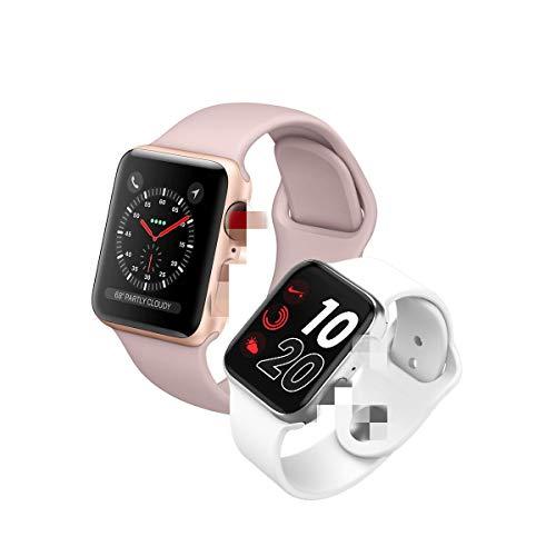 Intelligente Uhr,1.54In Iwo Kabelloses Laden Bluetooth Anruf Herzfrequenz Blutdrucktest Fitness Tracking Uhr I6 Plus Smartwatch Für Männer Frauen Für Ios Android,Rose Gold