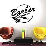 wZUN Salon de Coiffure bannière Ciseaux Outil Salon Mode Autocollant Mural Vinyle décor à la Maison Chambre décalcomanie Amovible 57X42 cm