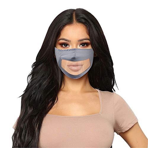 Lulupi Mundschutz Transparent Durchsichtig Visier Gesichtsschutz Gesichtsschild Schutzschild Wiederverwendbar Waschbar Mund Masken Halstuch Schals