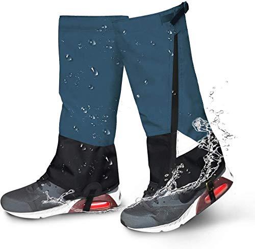 Jolitac Gamaschen wasserdichte Gamaschen Bein Gaiter zum Wandern, Klettern und Schneewandern Legging Outdoor Schnee Gamaschen 1 Paar (Blau)