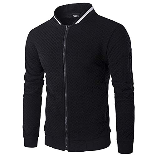 VANVENE - Sudadera con capucha para hombre con cremallera completa para hombre (talla S-3XL)